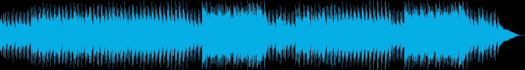 不思議な森、幻想的な雰囲気の3拍子BGMの再生済みの波形