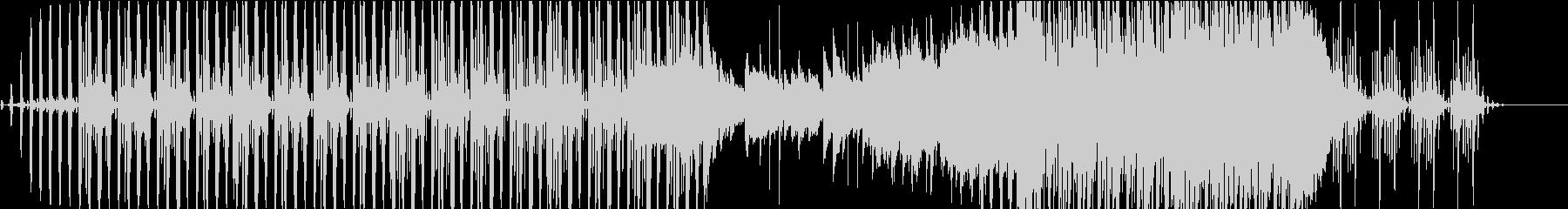 BGM,映像用。可愛く切ないテクノポップの未再生の波形