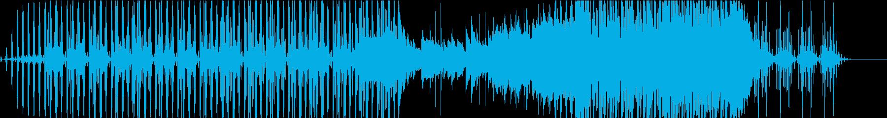 BGM,映像用。可愛く切ないテクノポップの再生済みの波形