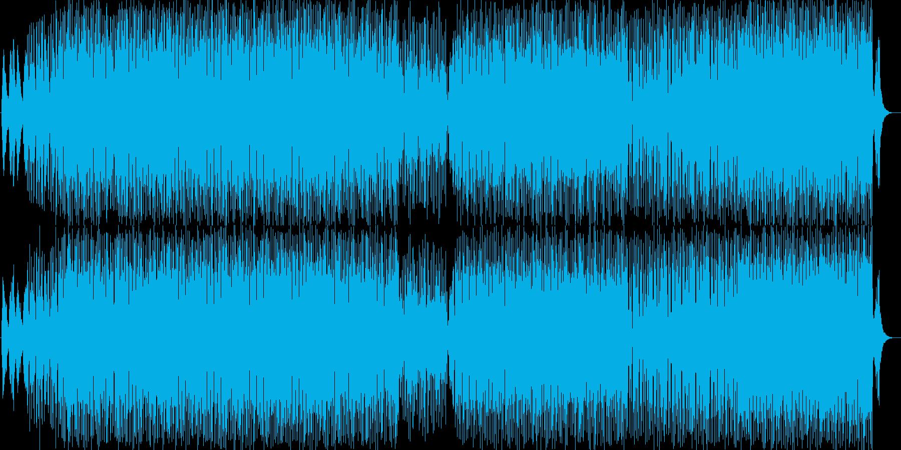 浮遊感のある打ち込み系ビートの再生済みの波形