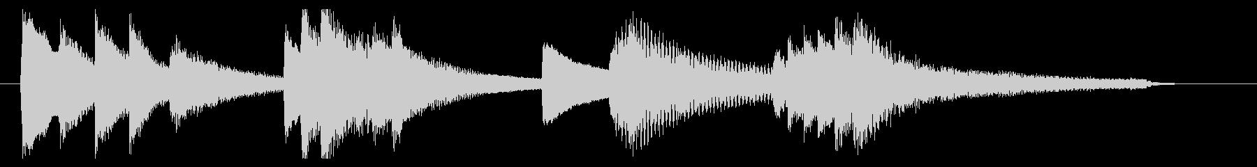 優しく穏やかなピアノのサウンドロゴの未再生の波形