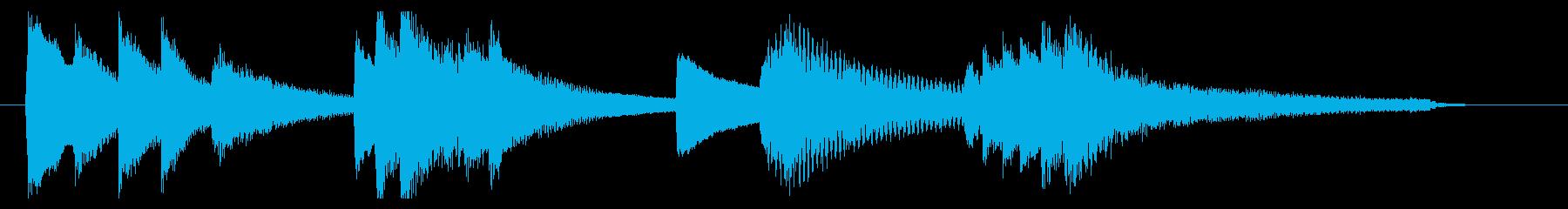 優しく穏やかなピアノのサウンドロゴの再生済みの波形