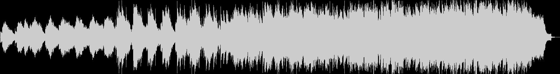 波音と笛とシンセサイザーのヒーリング音楽の未再生の波形