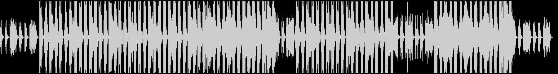 重低音のヒップホップトラックの未再生の波形