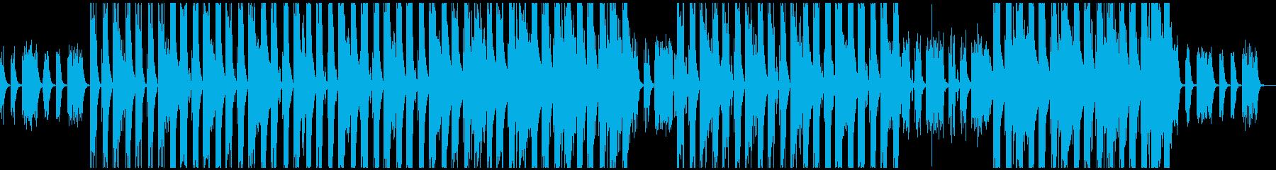 重低音のヒップホップトラックの再生済みの波形
