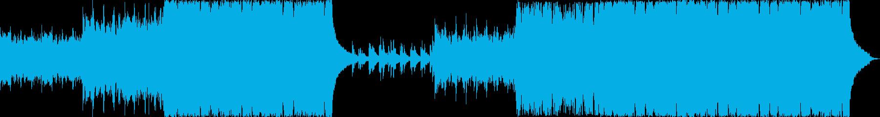 ゆったりしたヒーリング音楽の再生済みの波形