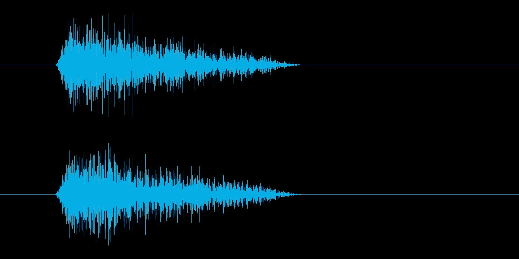 レーザー音-89-3の再生済みの波形