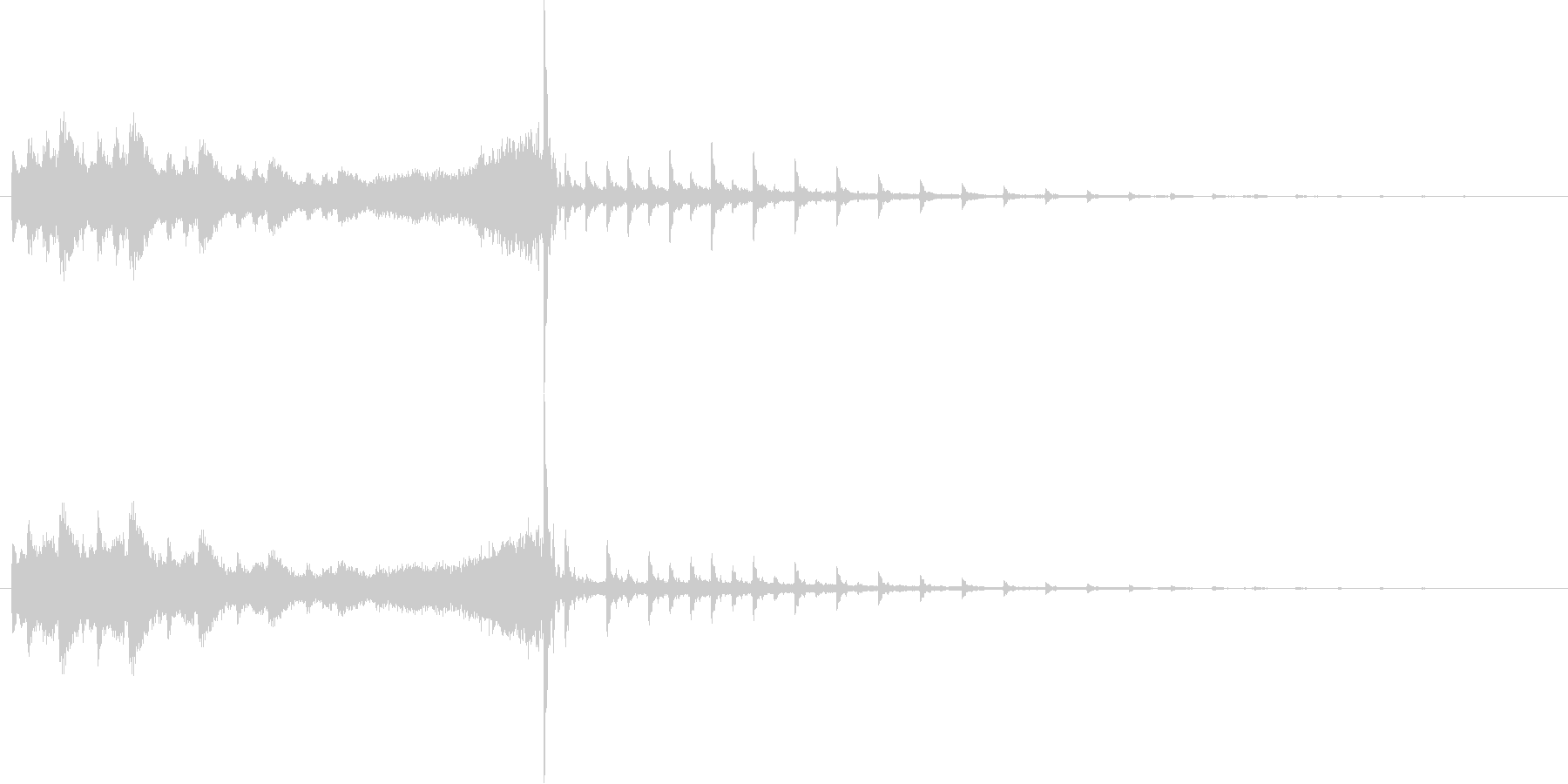 CMの企業ロゴ/緊張感のあるタイトルロゴの未再生の波形