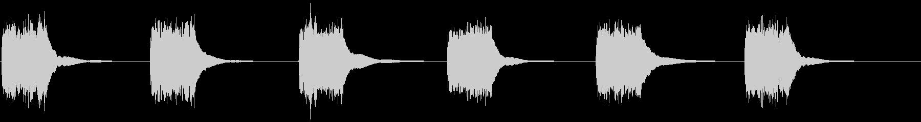 アンティークプッシュボタン電話:呼...の未再生の波形