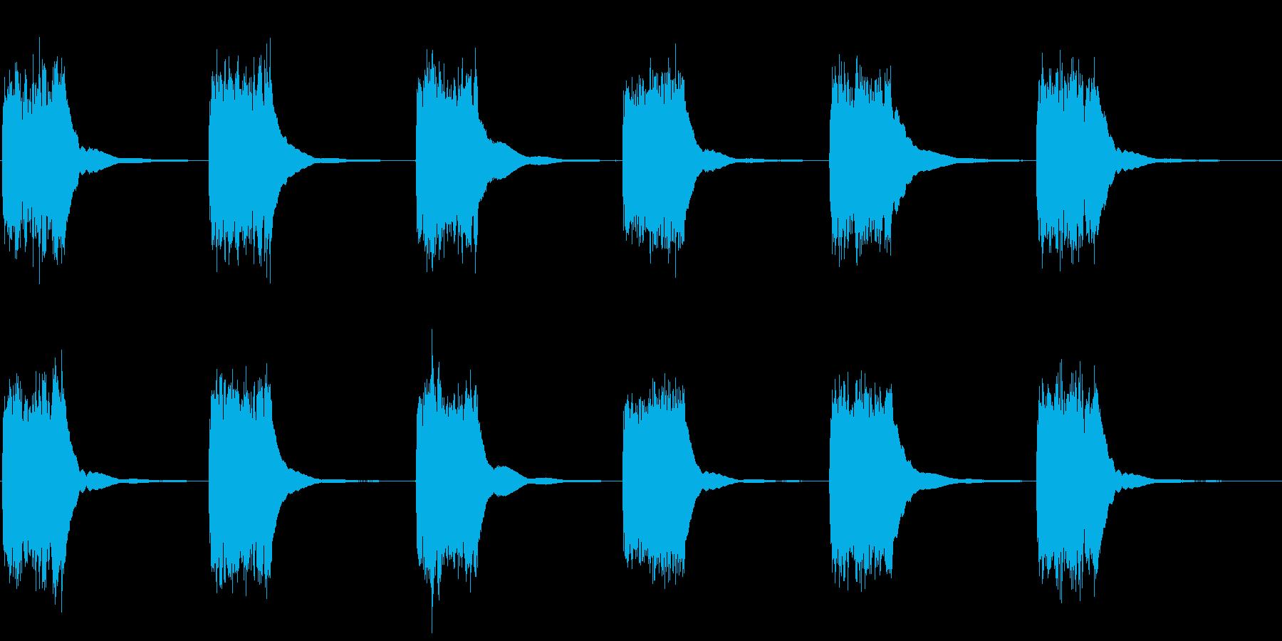 アンティークプッシュボタン電話:呼...の再生済みの波形