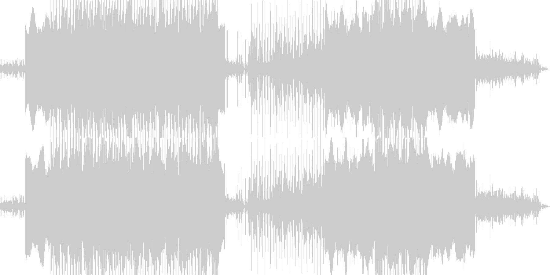 闇の組織のイメージを織り交ぜた曲です。の未再生の波形