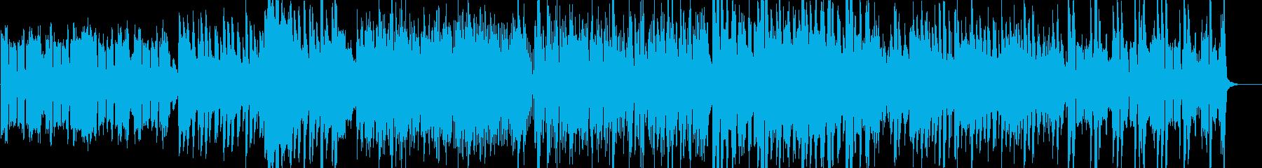 映像向け爽快なアイリッシュ風音楽の再生済みの波形