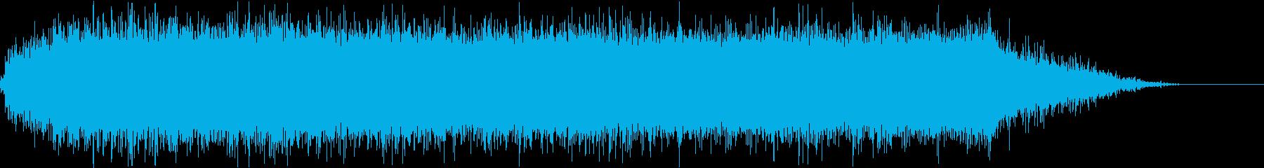 ヒュイーン!電動ドリルの動作音の再生済みの波形