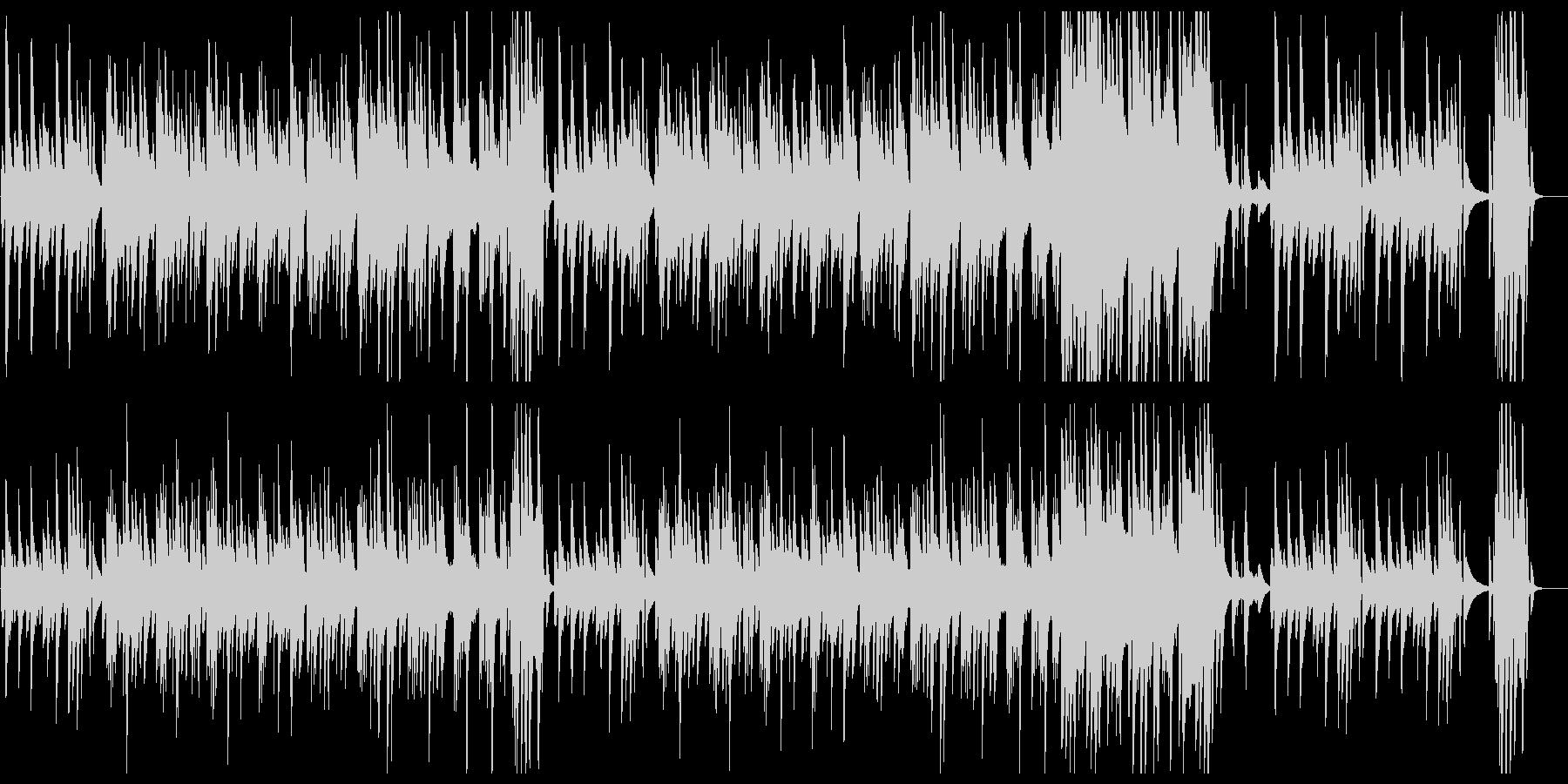 スローテンポで滑らかなピアノの曲の未再生の波形