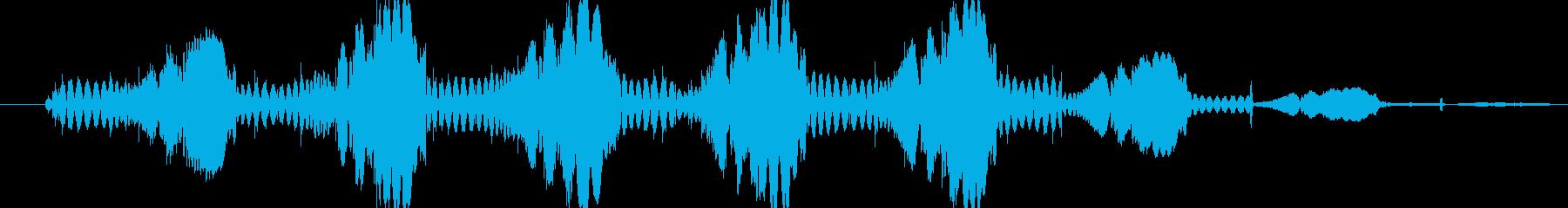 シンセ ショットテクノウォブルロー02の再生済みの波形