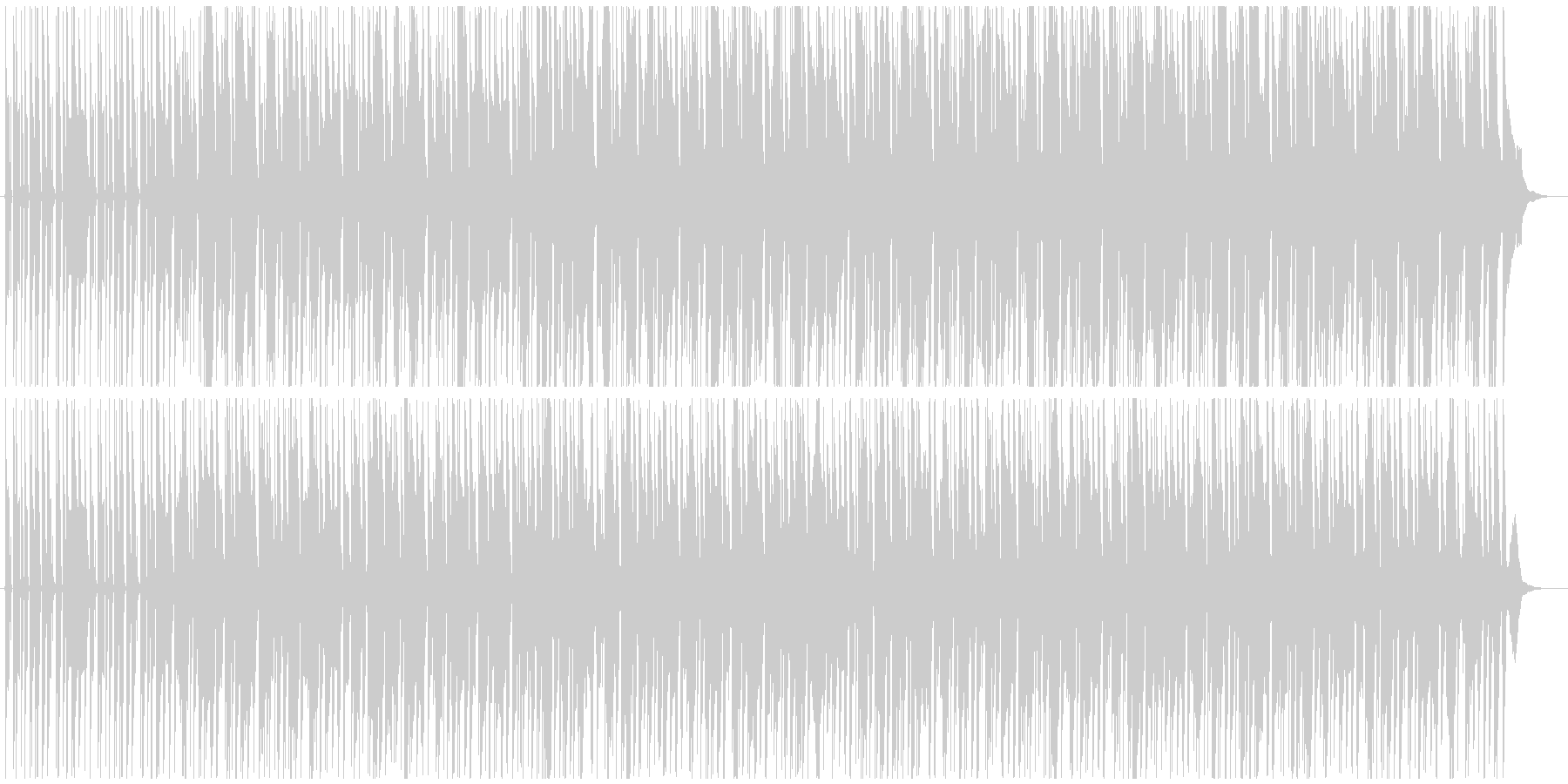オルガンの音が浮遊感を演出するBGMの未再生の波形