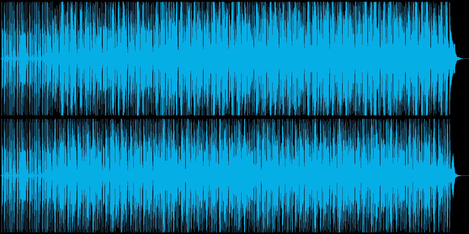 オルガンの音が浮遊感を演出するBGMの再生済みの波形