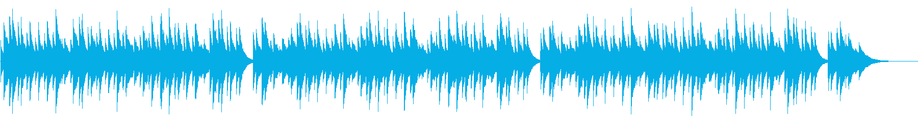 仰げば尊し 72弁オルゴールの再生済みの波形