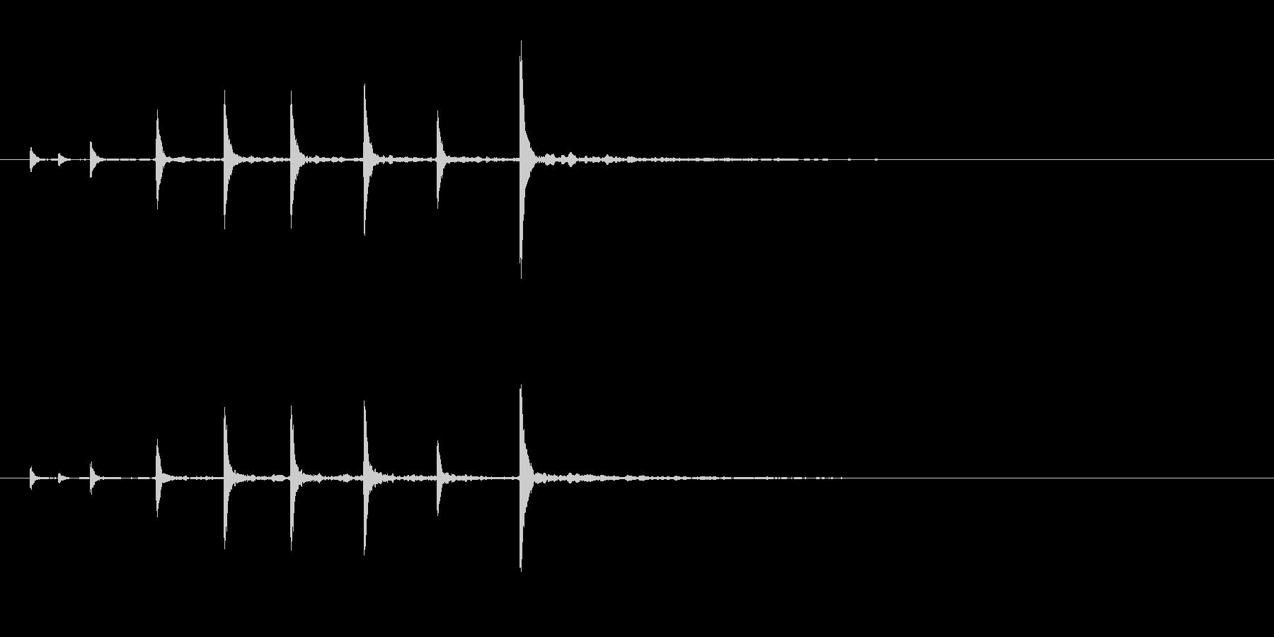 能楽の大鼓(おおつずみ)フレーズ音+FXの未再生の波形