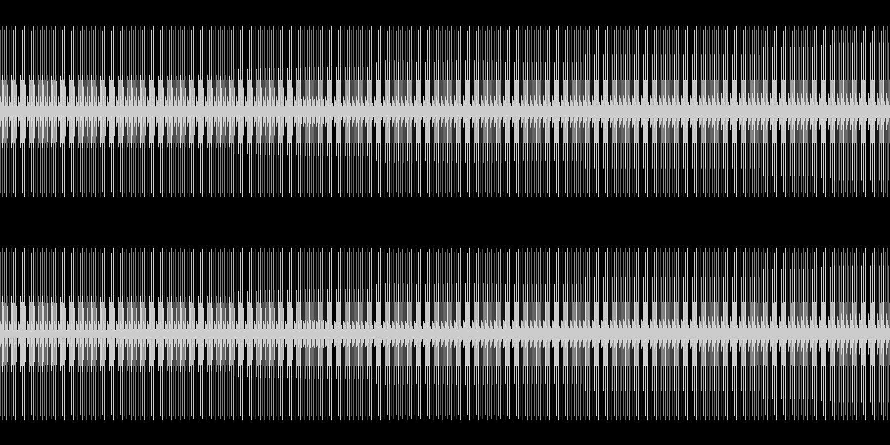 5分間ずっとシャンシャンとジングルベルの未再生の波形