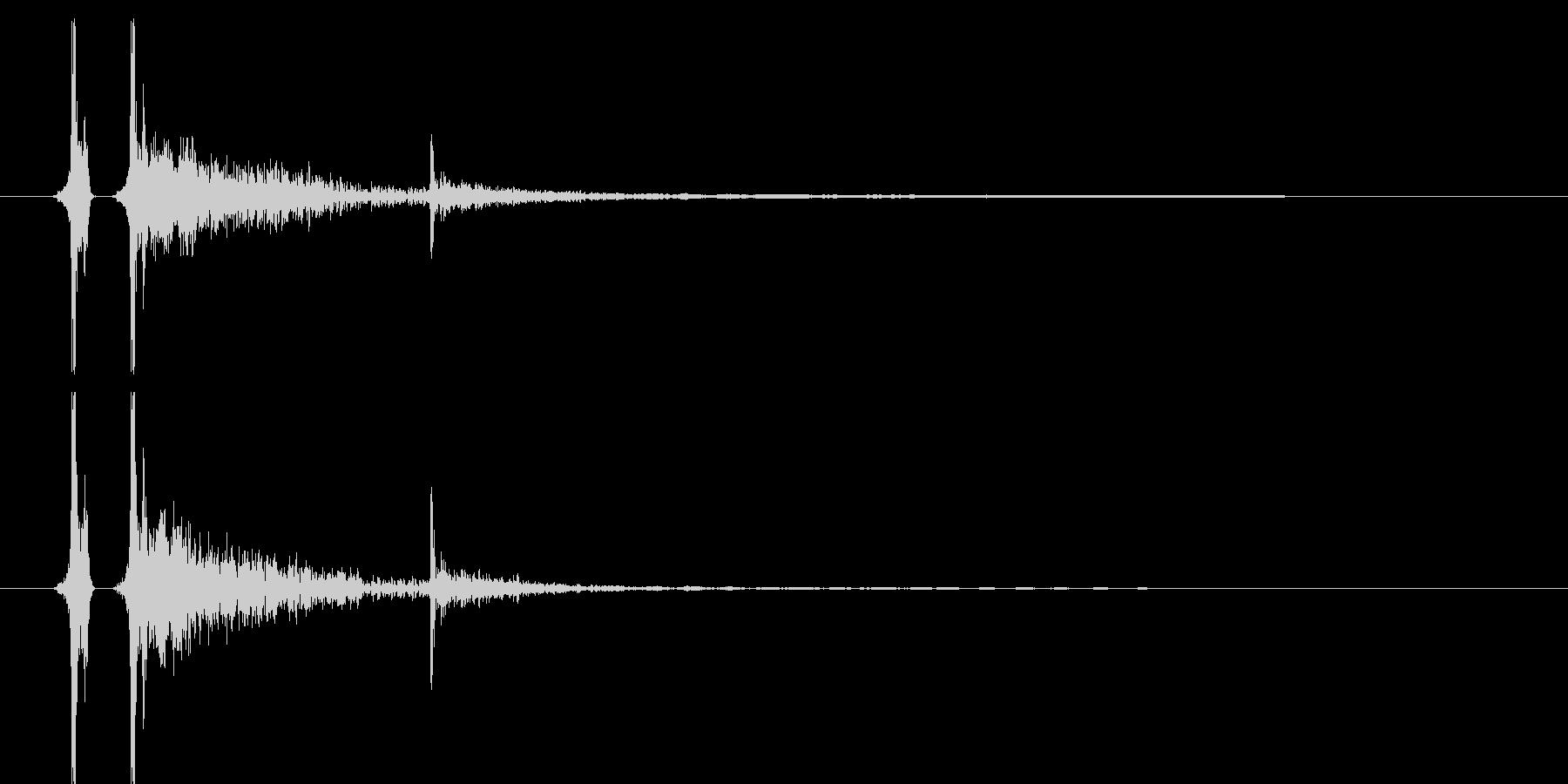 卓球/ピンポン/スマッシュ01の未再生の波形