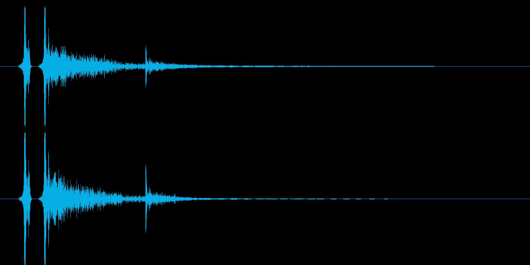 卓球/ピンポン/スマッシュ01の再生済みの波形
