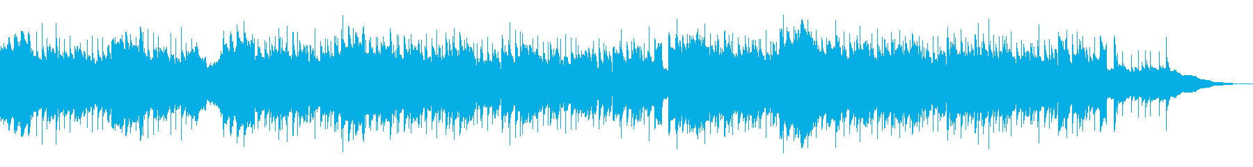 Opening, cheering, four-on-the-floor, blue sky's reproduced waveform