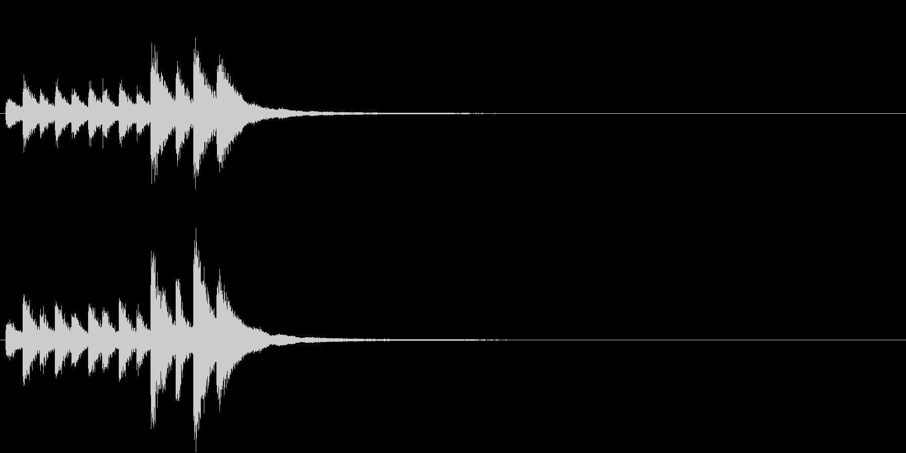 音侍「チチチ…」囃子当り鉦の連打リバーブの未再生の波形