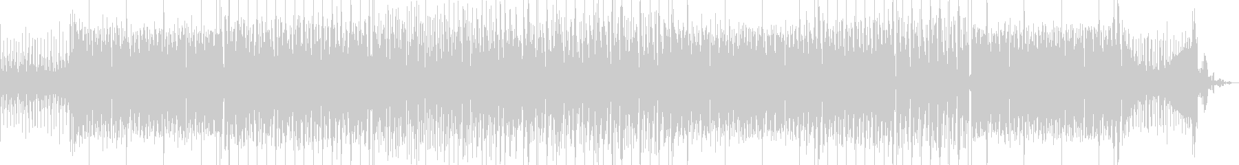 ポップでノリのいいEDMミュージックの未再生の波形