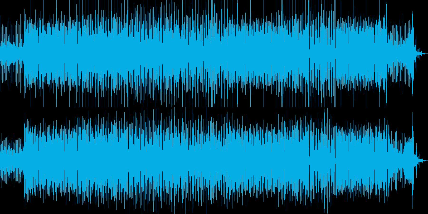 ポップでノリのいいEDMミュージックの再生済みの波形