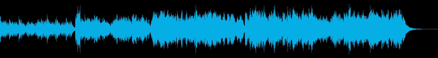 暗いピアノとヴァイオリンBGMの再生済みの波形