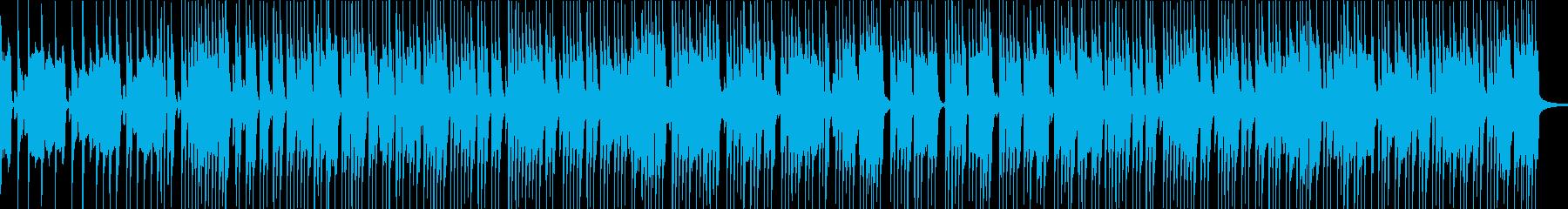 ベースとドラムのみのシンプルなロックの再生済みの波形