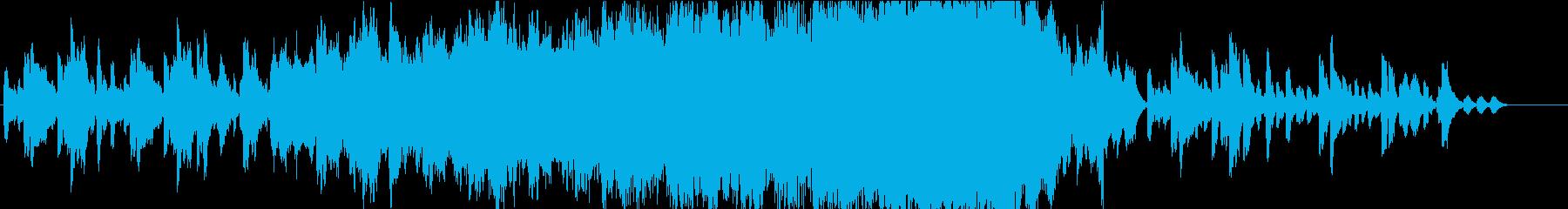 悲しいオルゴール主体のゴシック・ホラーの再生済みの波形
