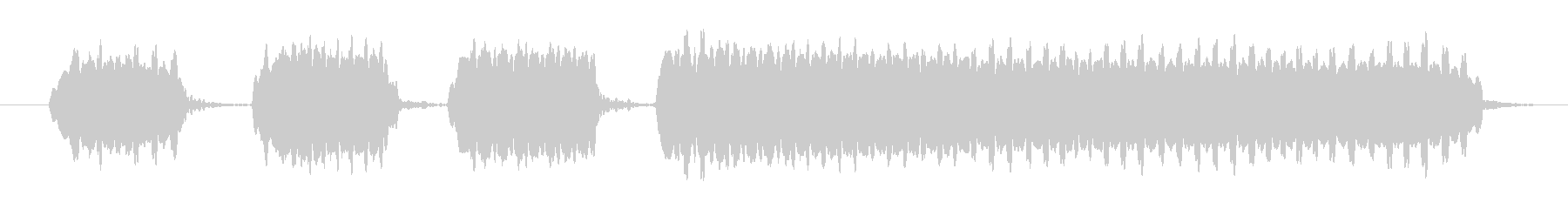 エンドウホイッスル2:多くのショー...の未再生の波形