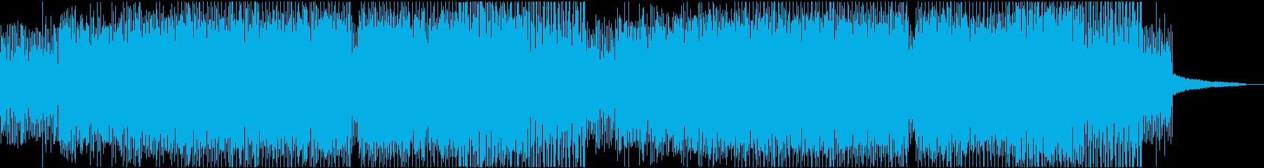 不気味な雰囲気の無機質で退廃的な電子音楽の再生済みの波形