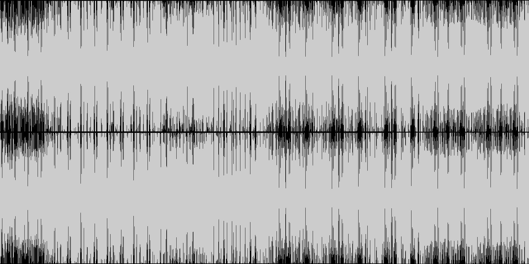 ビッグバンドジャズ風ドラムンベースループの未再生の波形