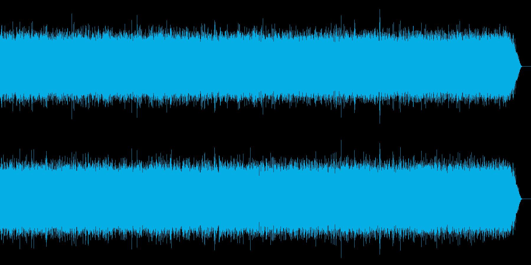 少し流れの速い川の再生済みの波形