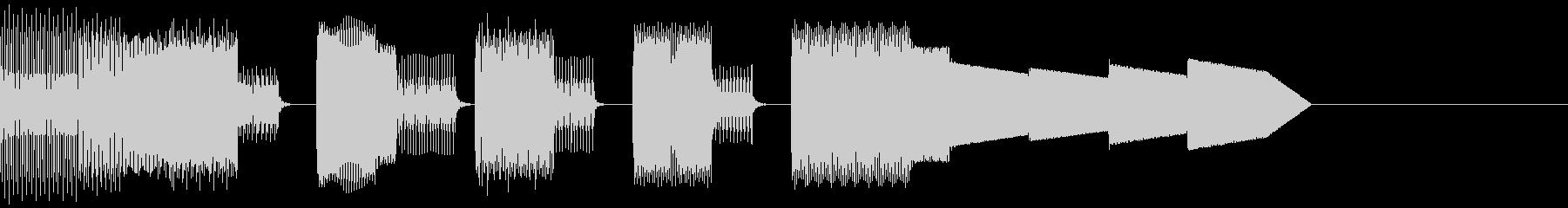 チップチューンなジングルの未再生の波形