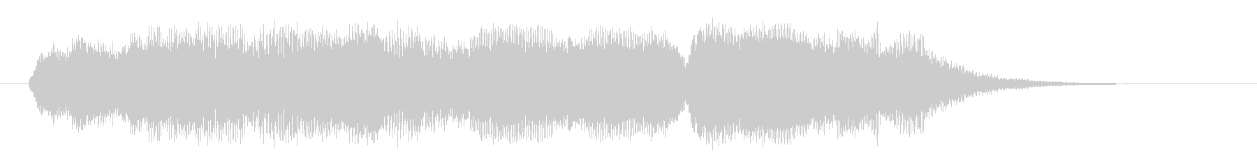 幻想的で浮遊感のあるシンセミュージックの未再生の波形