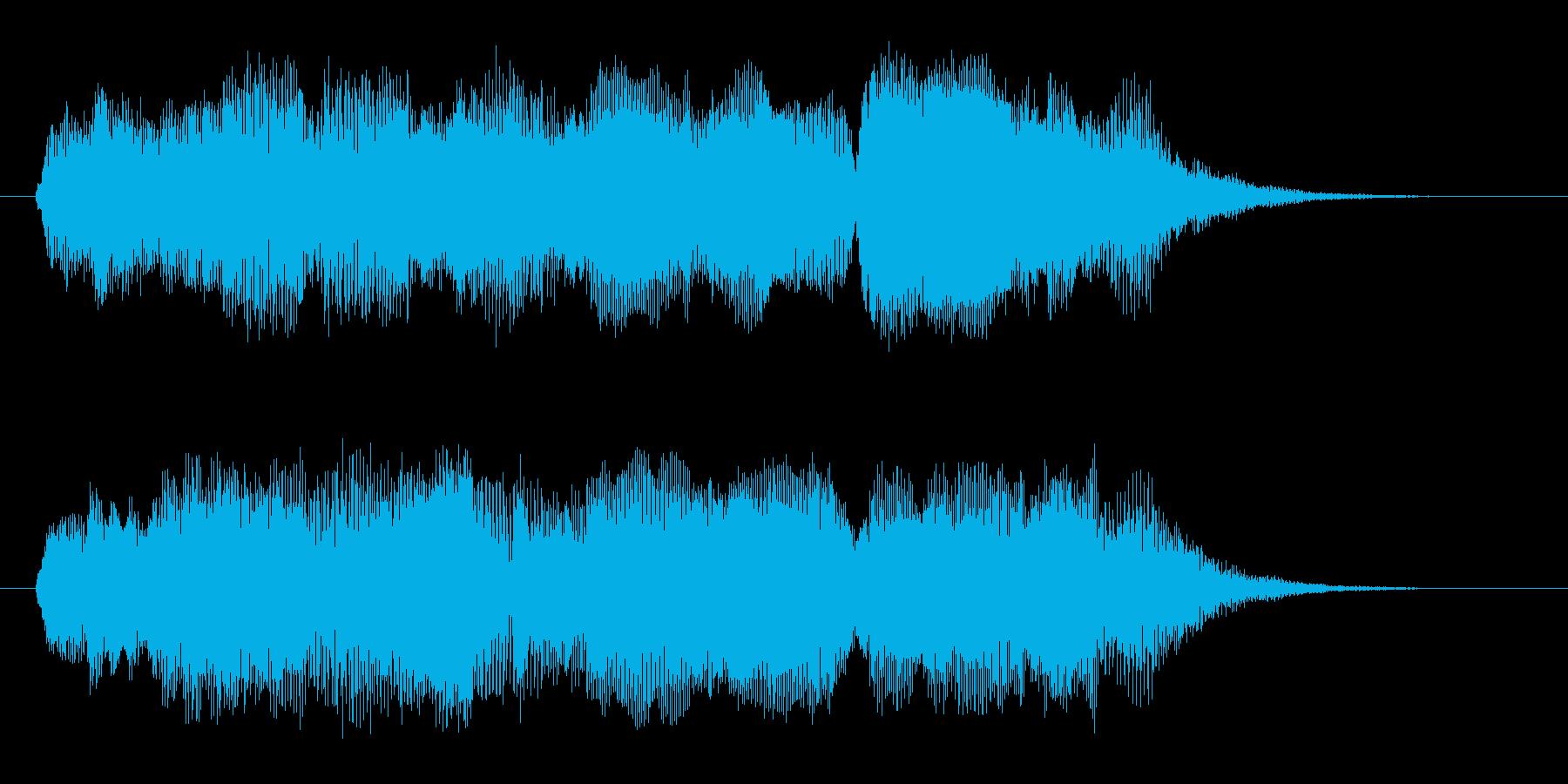 幻想的で浮遊感のあるシンセミュージックの再生済みの波形