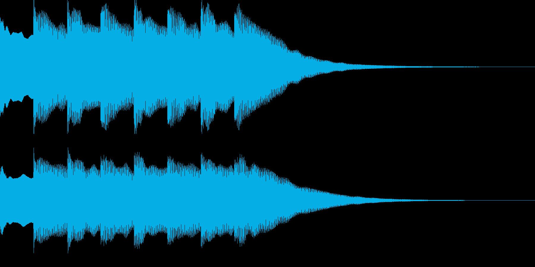 正解!の効果音2_ピンポン!×4の再生済みの波形