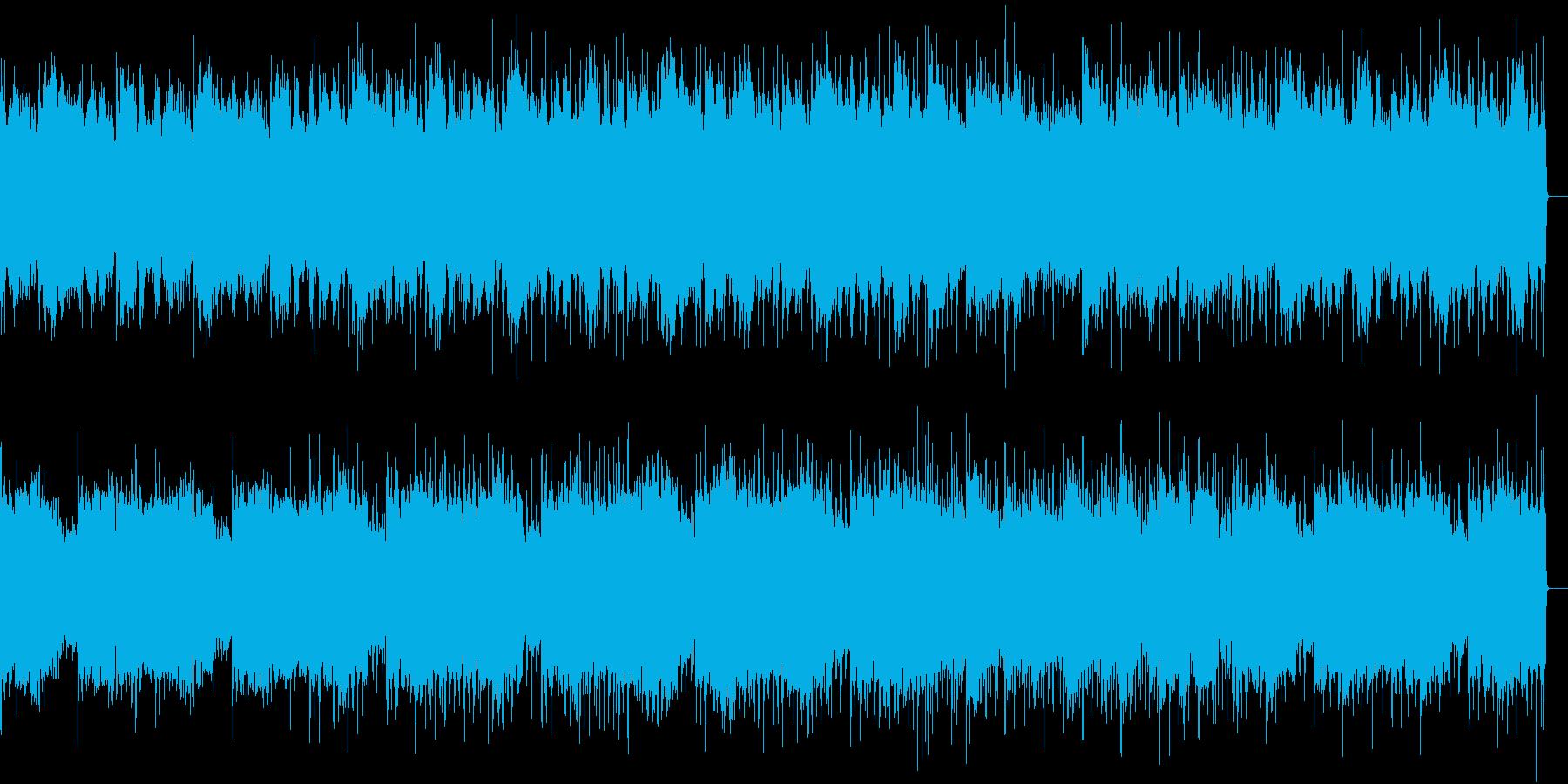 不思議な浮遊感のある楽曲の再生済みの波形