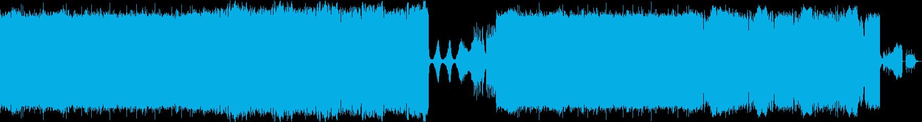 バランスのとれた平凡な曲の再生済みの波形