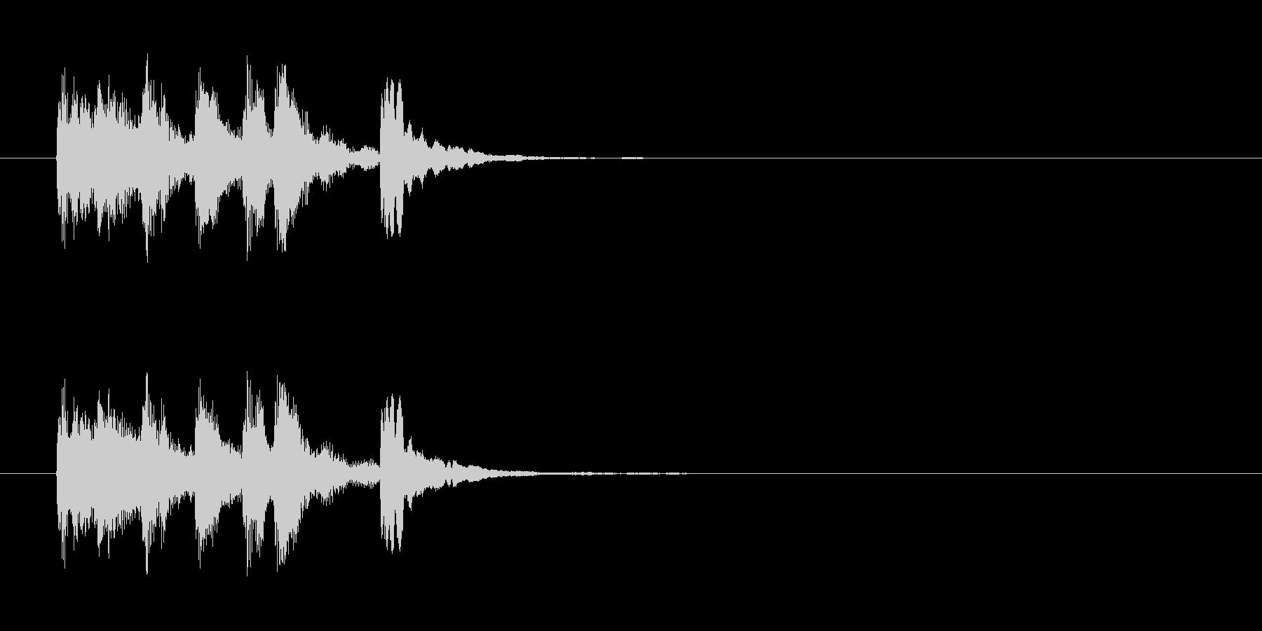 ラテン系のサウンドロゴ(スチールパン)の未再生の波形