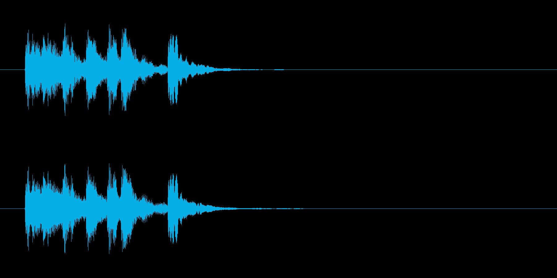 ラテン系のサウンドロゴ(スチールパン)の再生済みの波形