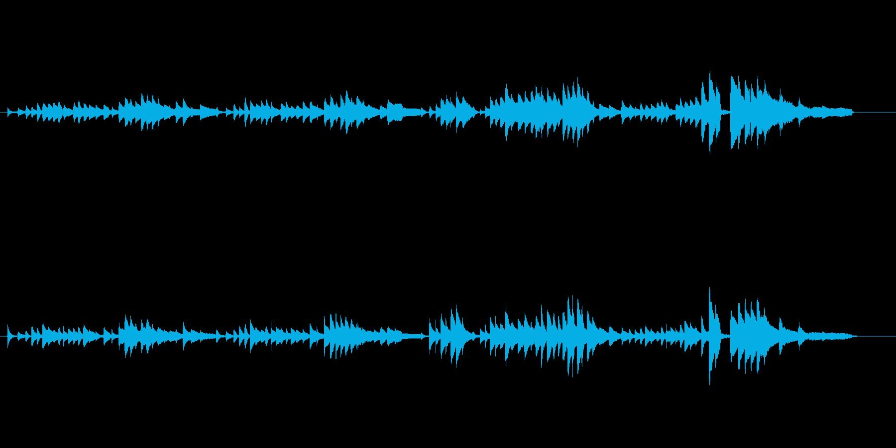 ピアノソロ儚く悲しげなピアノシューマンの再生済みの波形