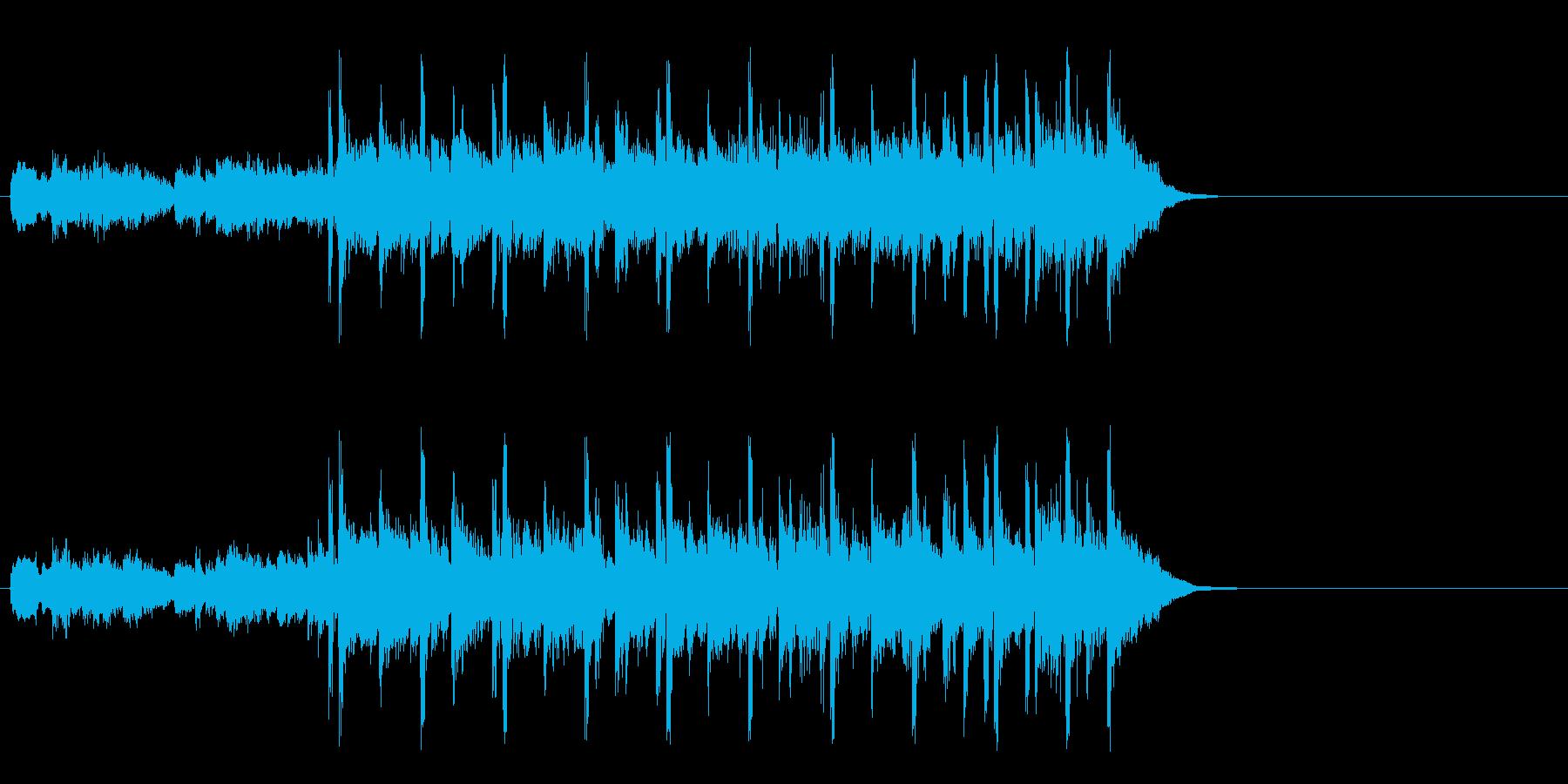 軽快なフュージョン(イントロ)の再生済みの波形