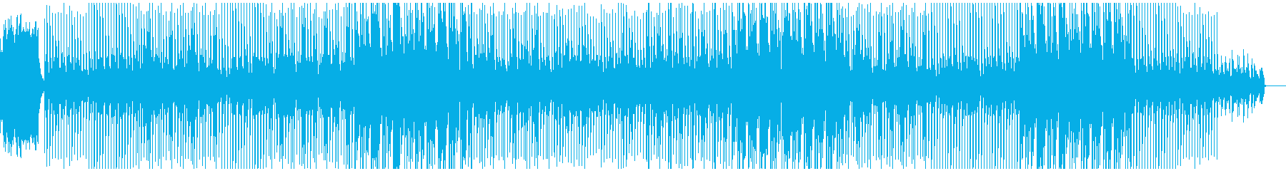 80年代感覚の明るいダンス系テクノポップの再生済みの波形