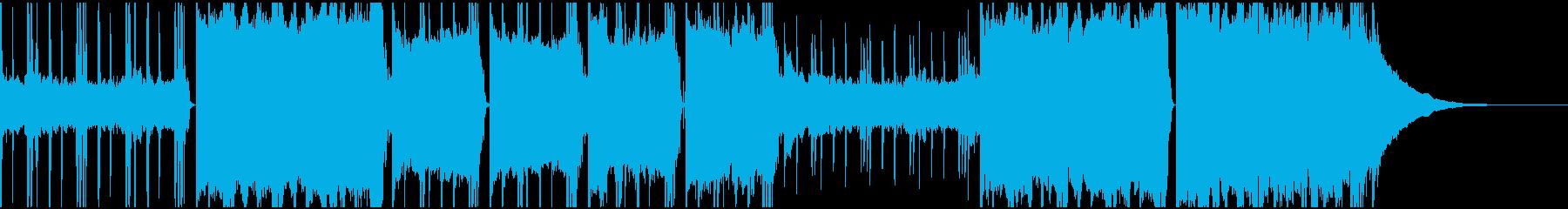 ヒップホップ ロックミュージックの再生済みの波形
