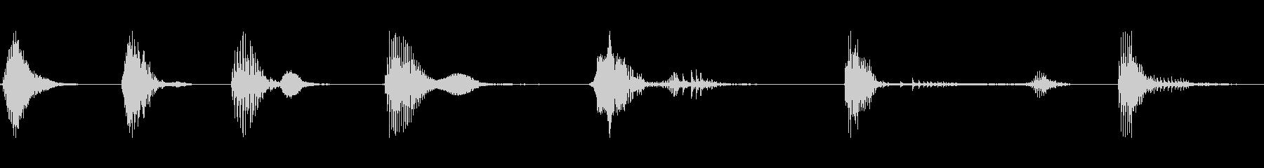 ドアウッドクリークショートx7の未再生の波形